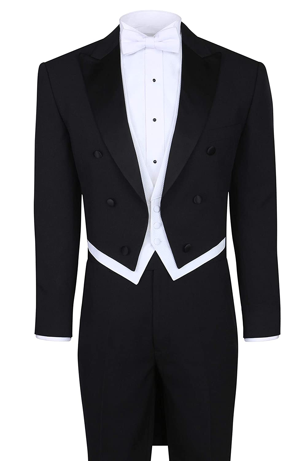 Victorian Men's Tuxedo, Tailcoats, Formalwear Guide Mens Tuxedo Tails - Tailcoat and Trousers Available in Black or White $130.65 AT vintagedancer.com