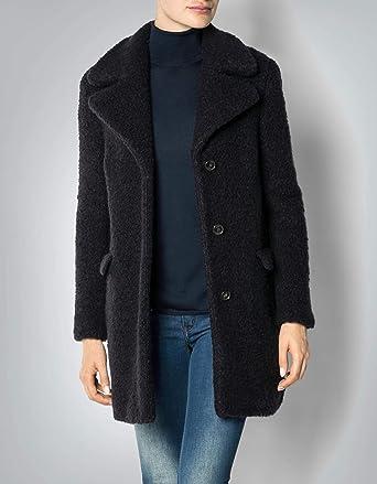 892437a657b4 Joop! Damen Mantel Wollstoff Warme Jacke Meliert, Größe  40, Farbe  Blau   Amazon.de  Bekleidung