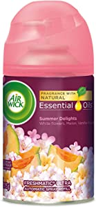 Air Wick Life Scents Automatic Air Freshener Spray, Summer Delights with White Flowers, Melon & Vanilla Scent, 6.17 oz (Pack of 3)