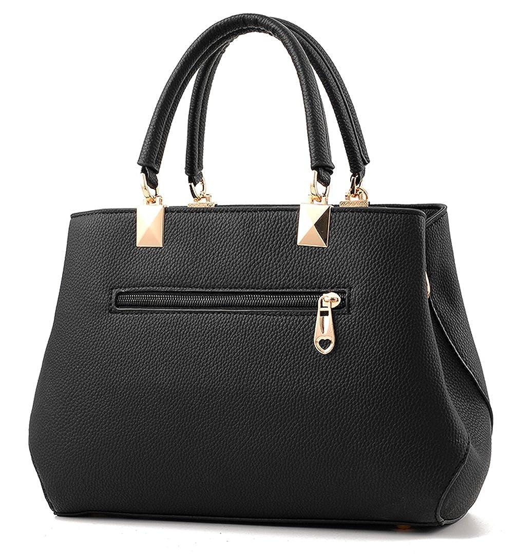 9299ecef14ff Amazon.com  Dreubea Womens Handbag Tote Shoulder Purse Leather Crossbody  Bag Black  Shoes