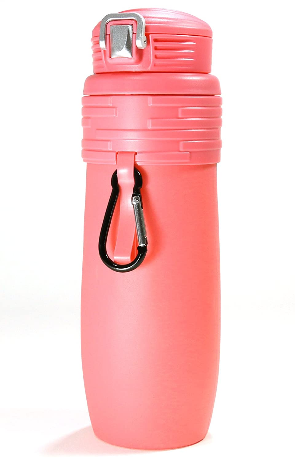 Minch Collapsible Silicone Water Bottles-17oz Leak Proof BPA Free-For Any Outdoor or Sports Activities