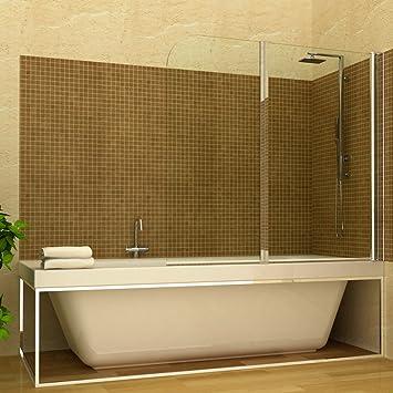 Cabina de ducha para bañera plegable 2 puertas de hoja se puede ...
