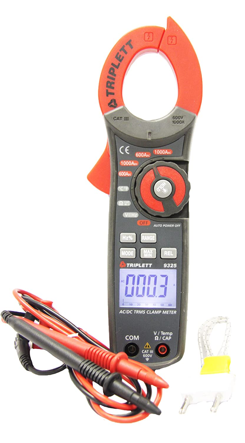 Triplett 9305 Compact Digital Clamp-on Meter with Large Display (0 ...