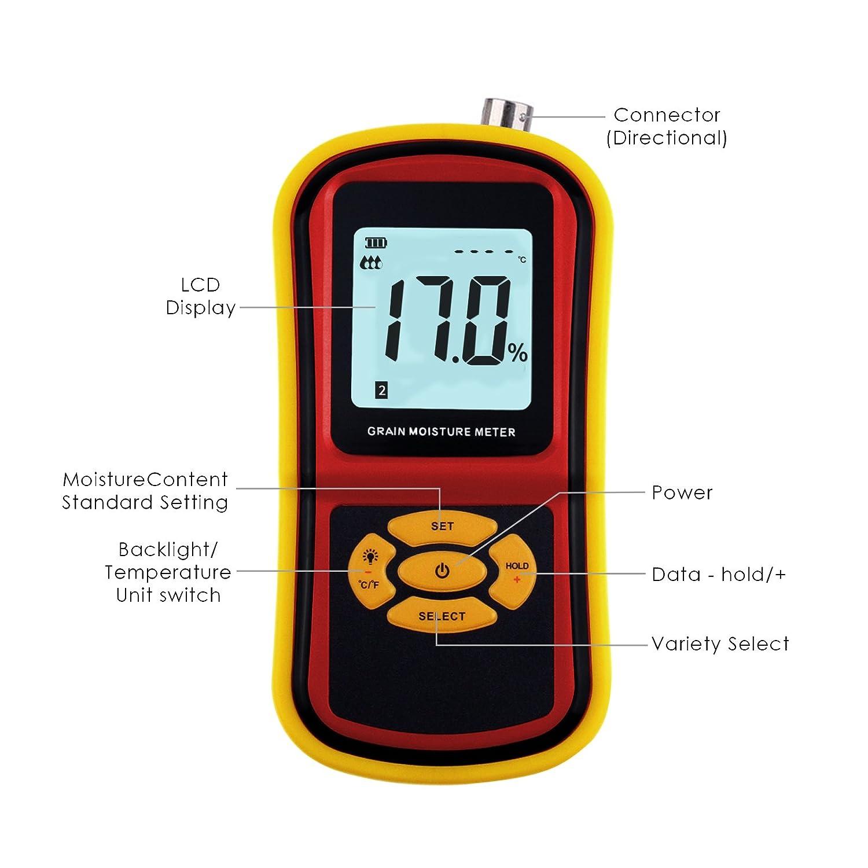 Feuchtigkeit Meter Smart Sensor Handheld Lcd Digitale Getreide Feuchtigkeit Meter Hygrometer Mit Mess Sonde Für Mais Weizen Reis Bean