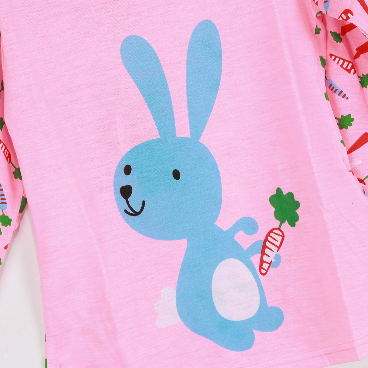 Girls Pajama Sets Cartoon Two Piece Cotton Kid Baby Girl Home Sleepwear Pink-L 4-5 Years