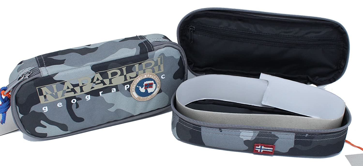 Estuche ovalado North Cape Camo Grey Napapijri: Amazon.es ...