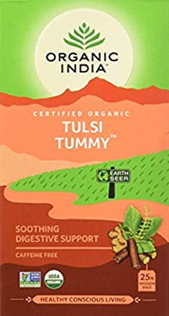 Organic India Tulsi Tummy - 18 Tea Bags Herbal Tea at amazon