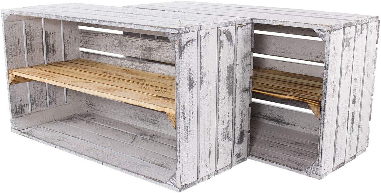 schönes Holzregal mit einem Mittelbrett 4 Geflammtes