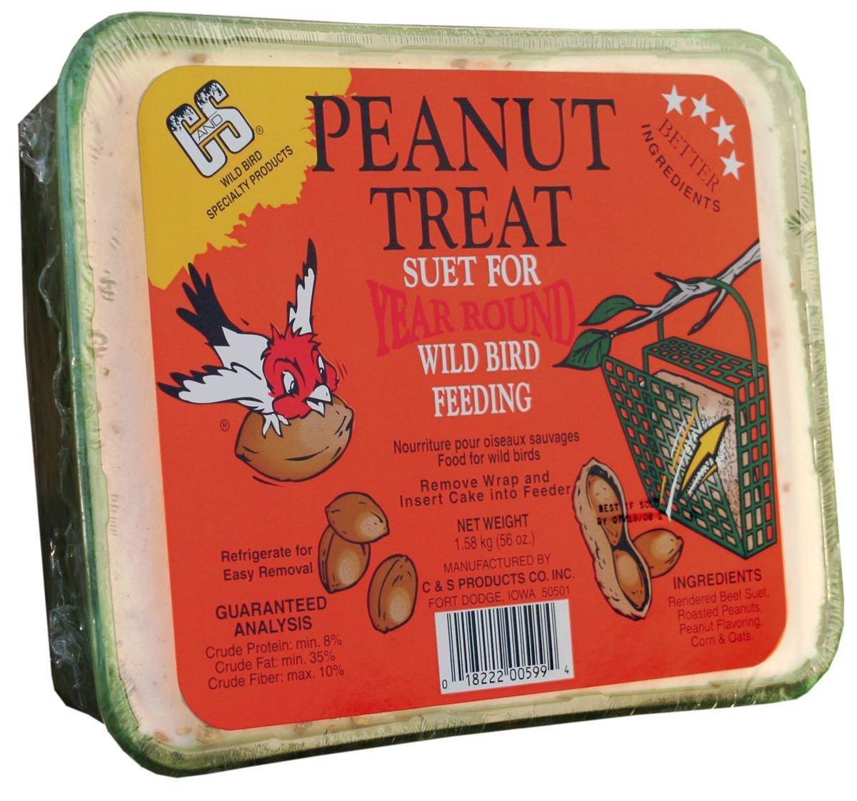 C & S Products Peanut Treat, 6-Piece by C & S Products