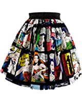 Women's Hemet Retro Comic Strip Skirt