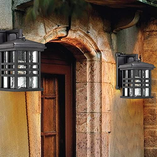 Ciata Lighting Wall Lanterns Weather-Resistant Outdoor Lamps Decorative Scroll Sconce Arm