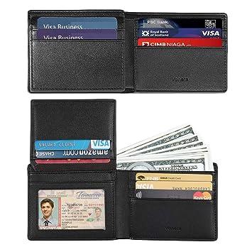 Voneta RFID Blocking Leather Wallet Bifold Designer Gift... Slim Men/'s Wallet