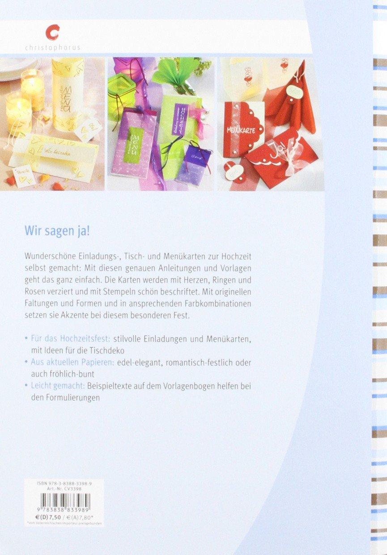 Unsere Hochzeit: Einladungen U0026 Tischkarten: Amazon.de: Ulrike Seeger: Bücher