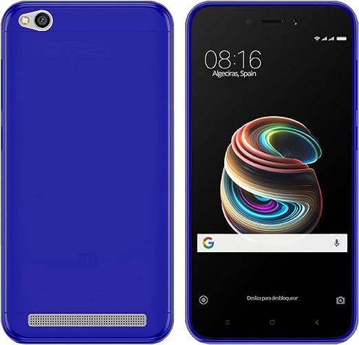 TBOC® Funda de Gel TPU Azul para Xiaomi Redmi 5A (5.0 Pulgadas) de ...
