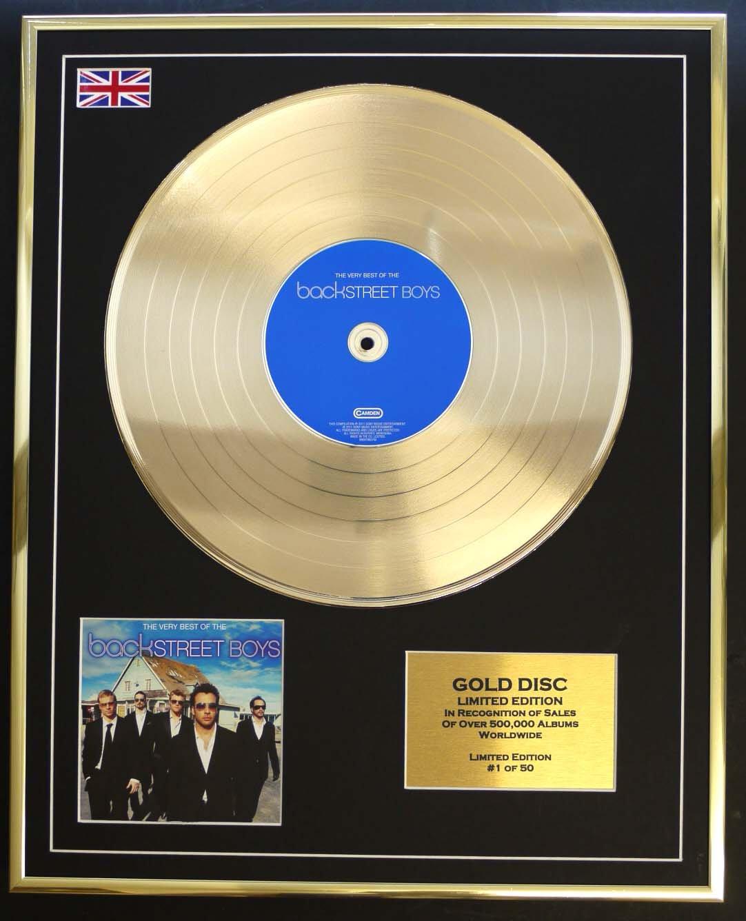BACKSTREET BOYS//Goldene Schallplatte Record Limitierte Edition//THE VERY BEST OF