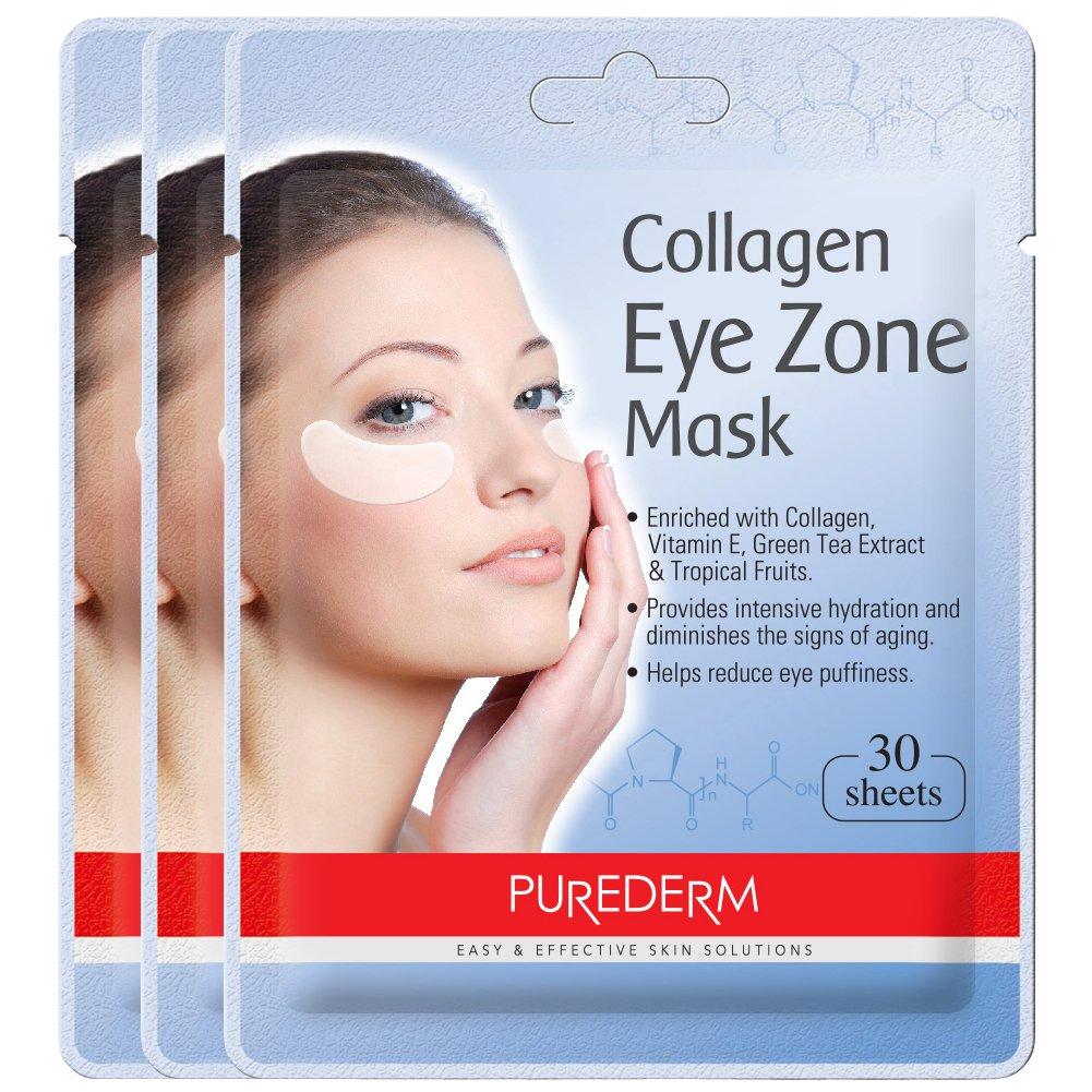 Purederm - Cerotti collagene per gli occhi, Collagen Eye Patches - Eye zone mask, 30 Pezzi ADS 903(1)