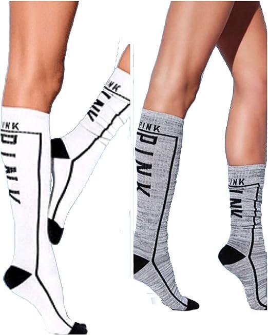 2 Pack PINK Victorias Knee High Sock