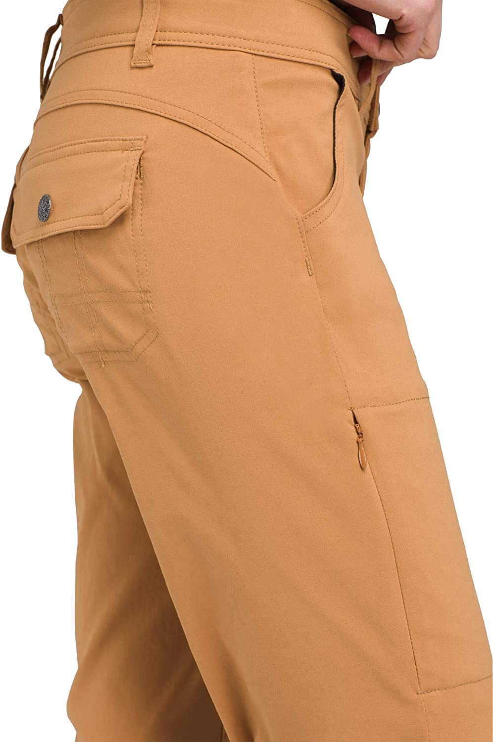 prAna Water-Repellent Stretch Pants for Hiking and Everyday Wear Womens Halle Roll-Up