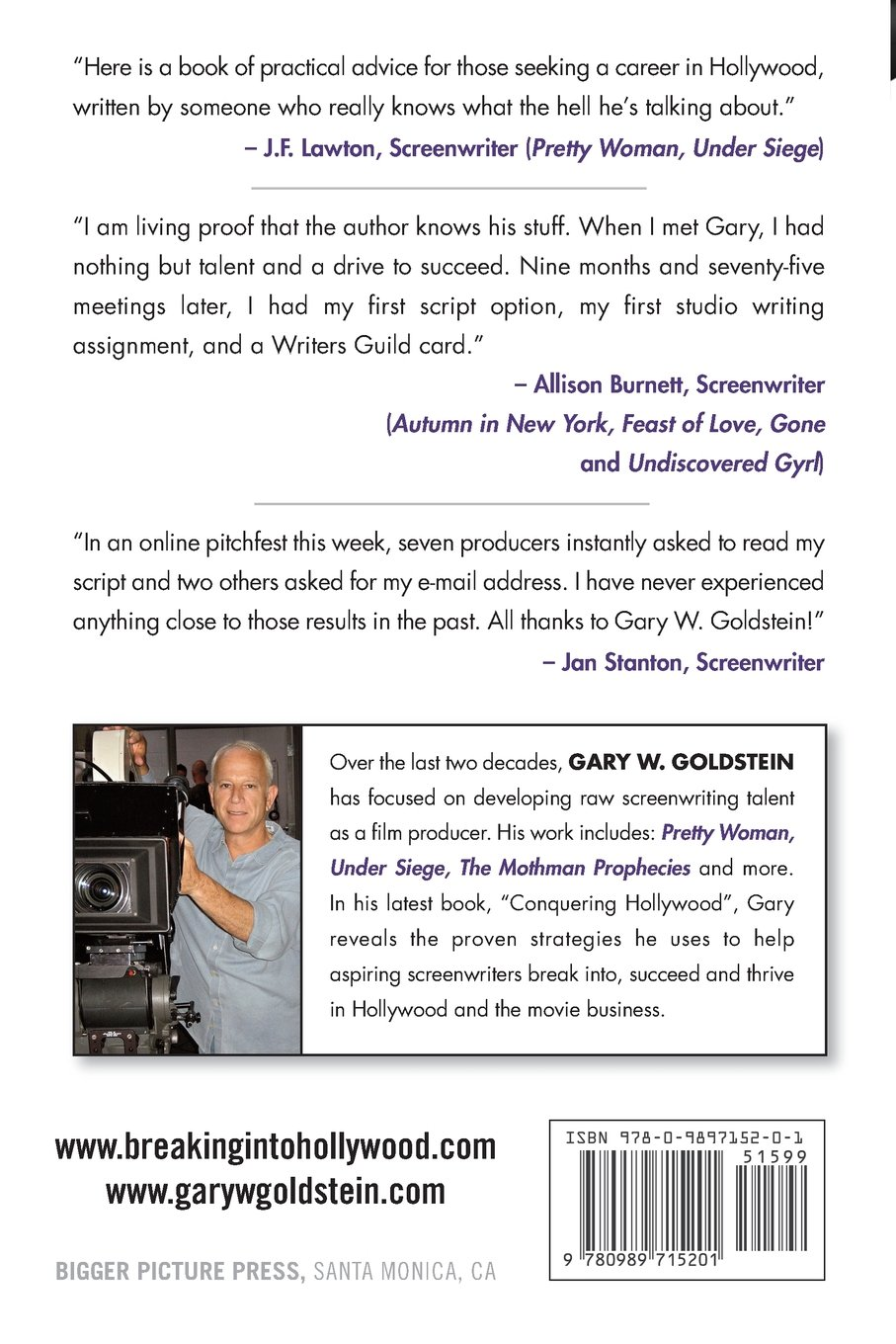 Conquering hollywood the screenwriters blueprint for career conquering hollywood the screenwriters blueprint for career success gary w goldstein jeanne mccafferty 9780989715201 amazon books fandeluxe Image collections