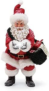 "Department 56 Snow Flakes Santa by Possible Dreams Musical Figurine, 10.5"", Multicolor"