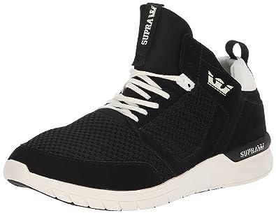 268fc9a39b5 Supra Method Skate Shoe, Black/Off White, 7 Regular US