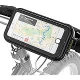 Soporte Movil Bicicleta Impermeable, Soporte Universal Manillar de Silicona para Bicicleta Motocicleta Apoyo 360° Rotación Prueba de choques para Phone