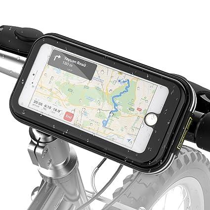 Soporte Movil Bicicleta Impermeable, Soporte Universal Manillar de Silicona para Bicicleta Motocicleta Apoyo 360°