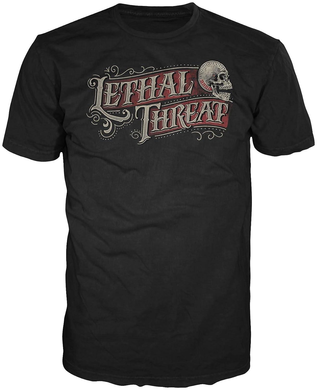 Lethal Threat Black, X-Large LT20235XL Mens Calligraphy Shirt