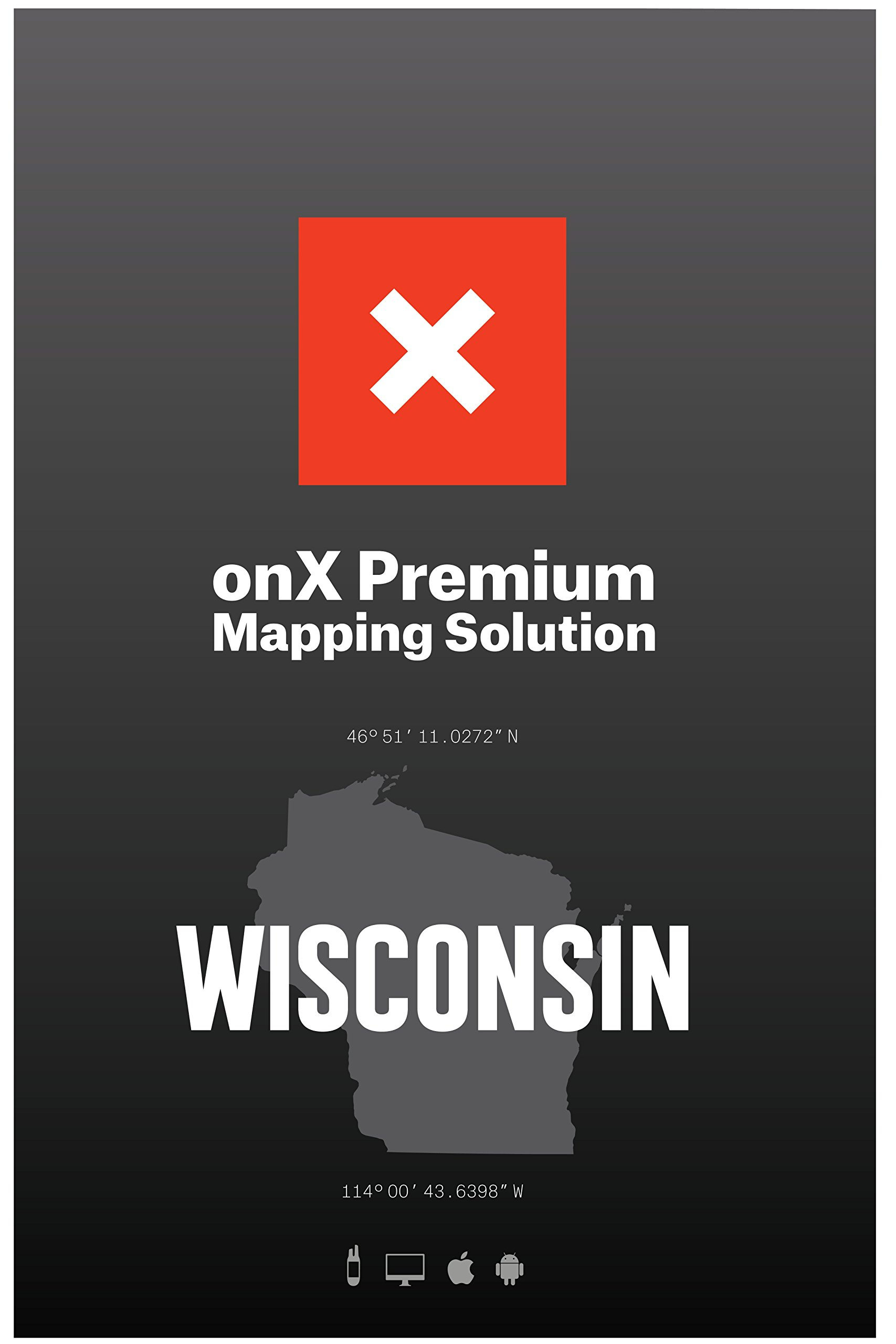 ONX Hunt: Wisconsin Hunt Chip for Garmin GPS - Hunting Maps with Public & Private Land Ownership - Hunting Units - Includes Premium Membership Hunting App for iPhone, Android & Web by ONX