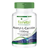Acetyl L-carnitine 1000mg, vegan, 90 capsules, more effective form of L-carnitine