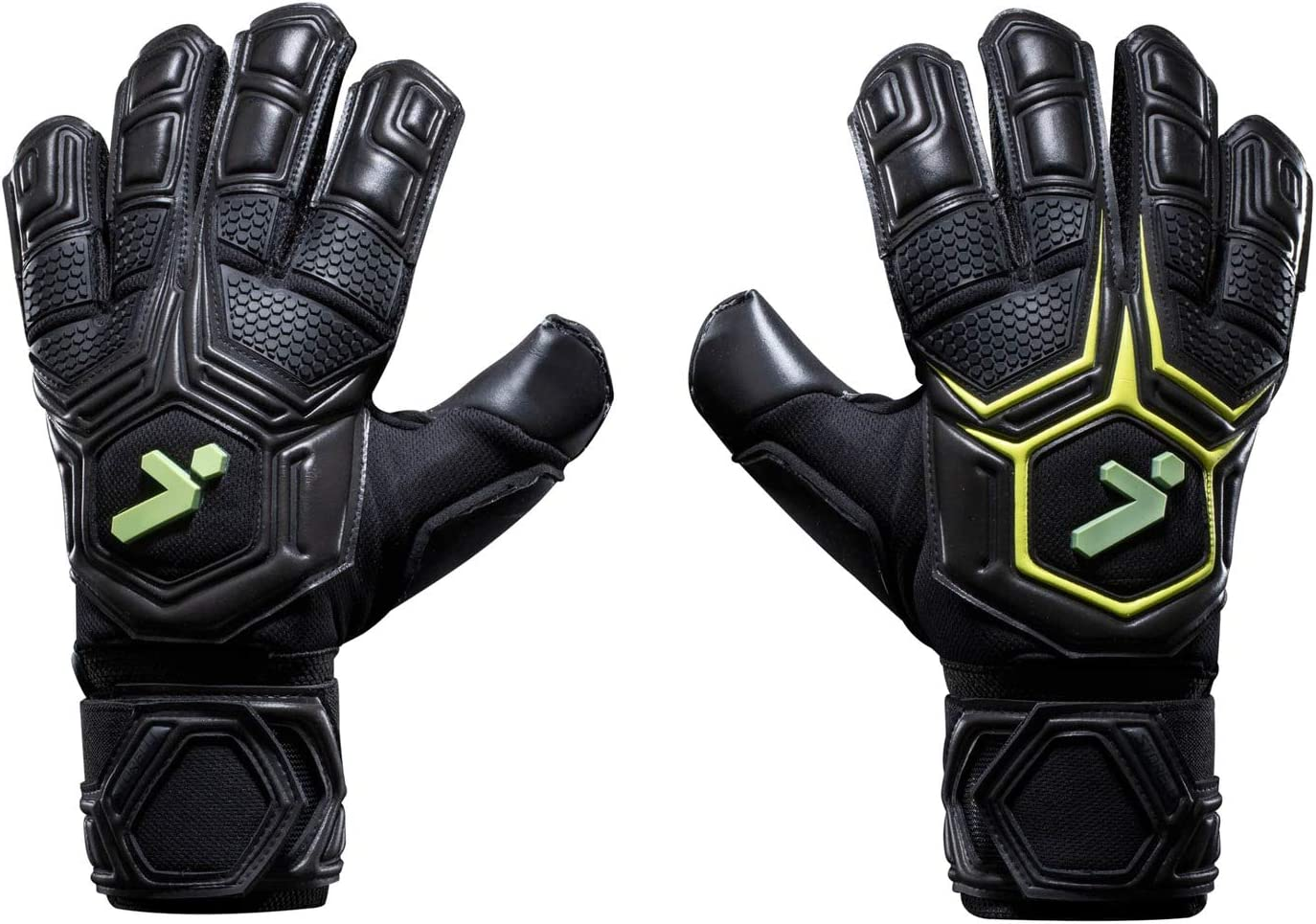 Professional Soccer Goalie Gloves with Finger Spines Black /& Yellow Storelli Gladiator Pro 3.0 Goalkeeper Gloves Superior Finger and Hand Protection