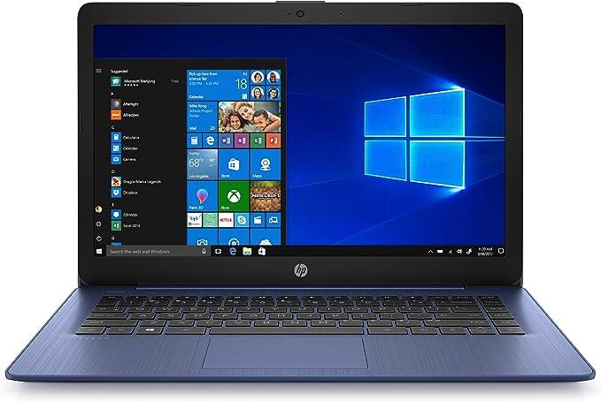HP Stream 14 inches HD(1366x768) Display, Intel Celeron N4000 Dual-Core Processor, 4GB RAM, 64GB eMMC, HDMI, WiFi, Webcam, Bluetooth, Win10 S, Royal Blue(Renewed) | Amazon