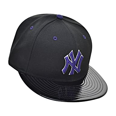 0d9ba94fa62 ... reduced new era new york yankees 59fifty mens fitted hat cap black  purple white 70365024 a1715