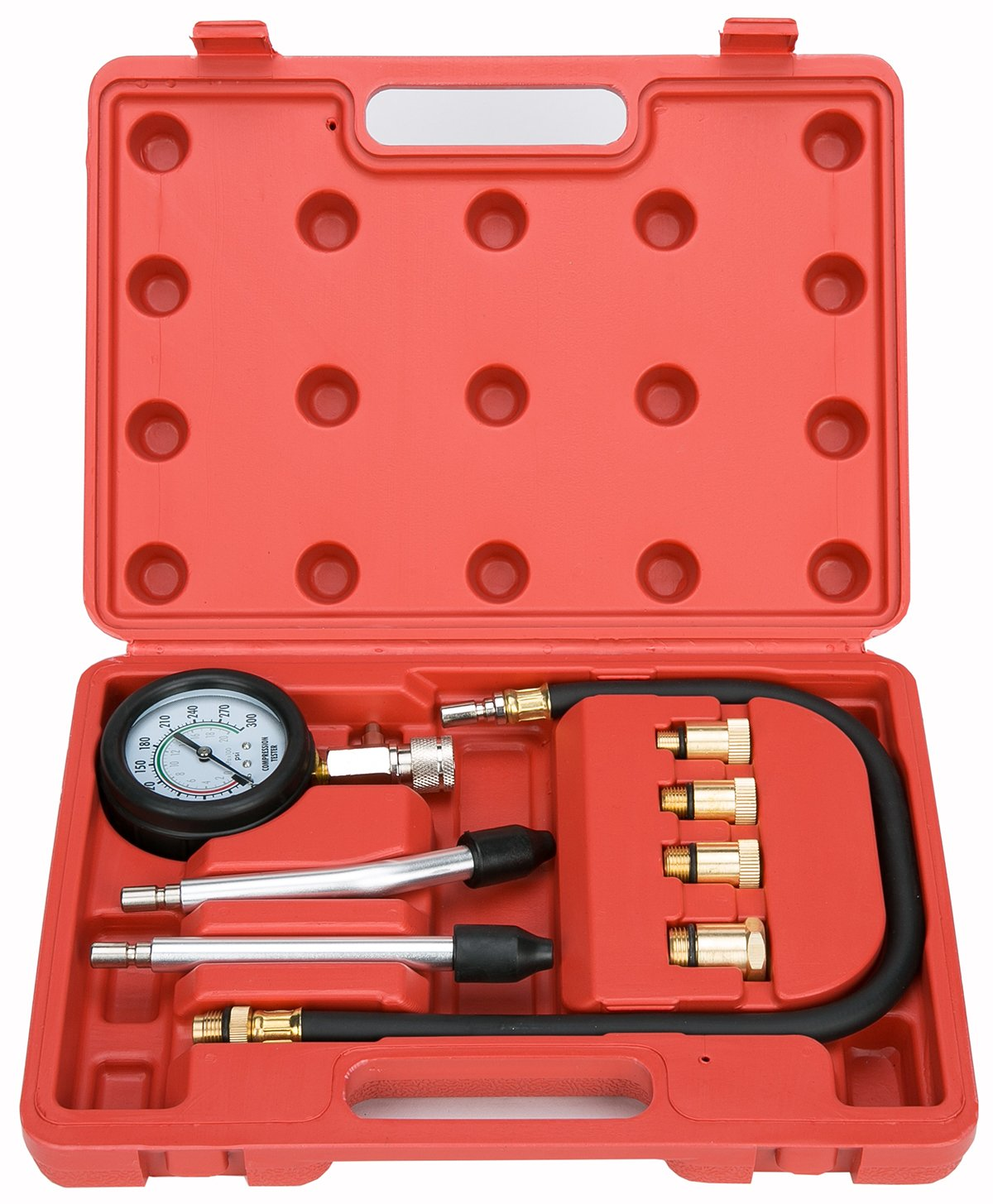 8milelake Professional Petrol Gas Engine Cylinder Compression Tester Gauge Kit Auto Tool freebirdtrading