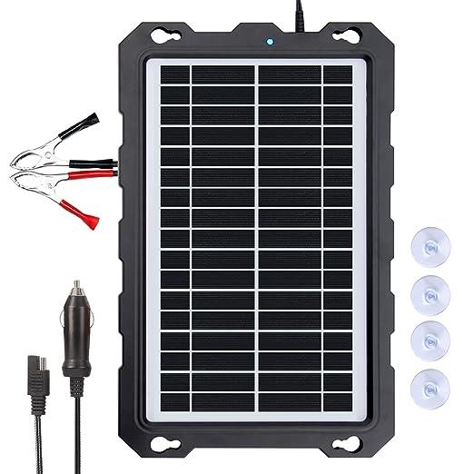 POWOXI Cargador Solar de 12 V para batería de Coche ...