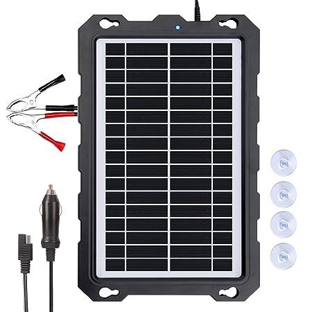 Amazon.com: POWOXI - Cargador solar de 12 V para batería de ...