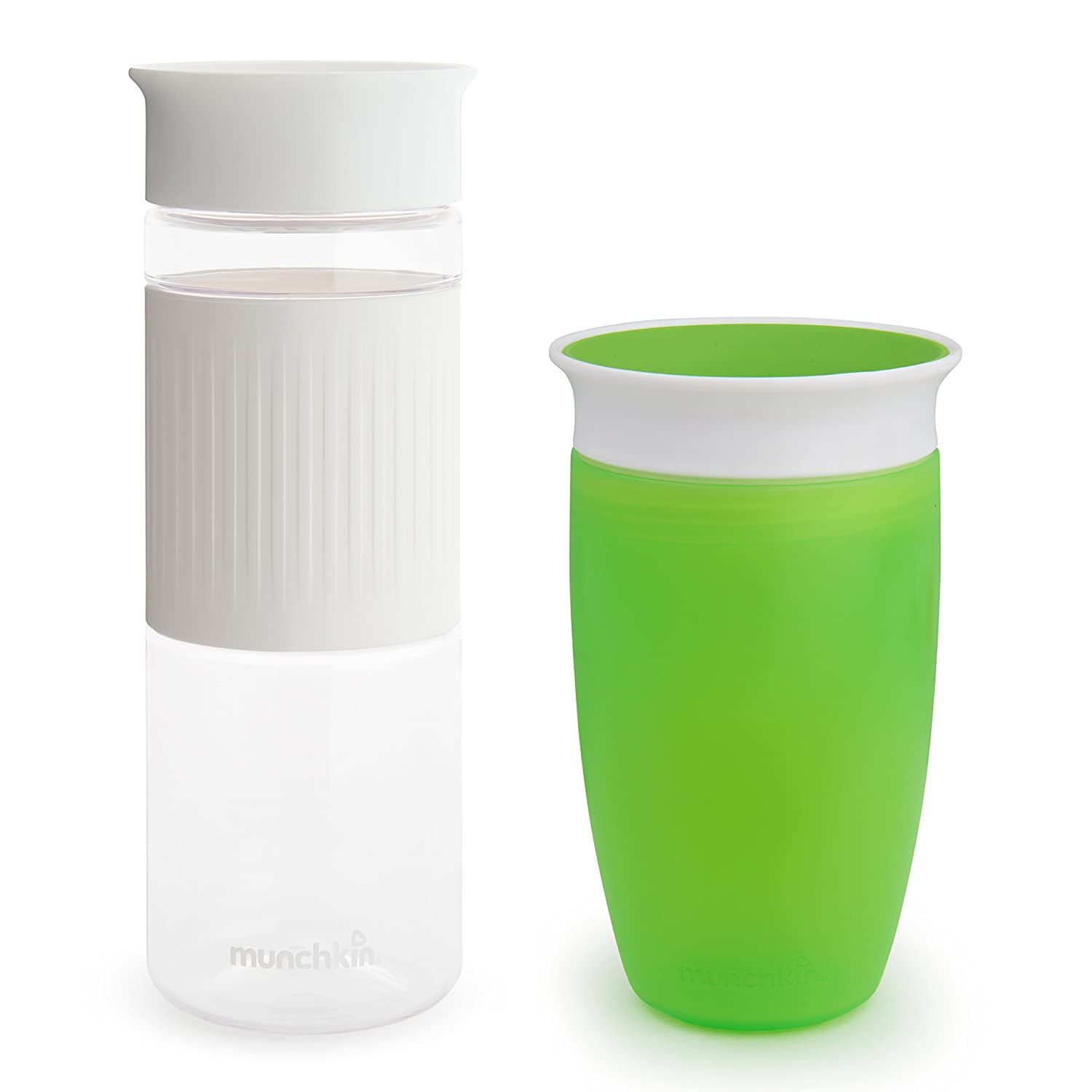 Munchkin Miracle 360 Hydration Set, 2 Pack, 24 Ounce and 10 Ounce, Green and White