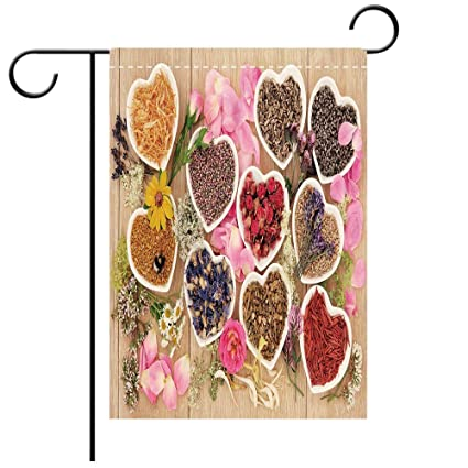 Amazoncom Double Sided Premium Garden Flag Floral Healing Herbs