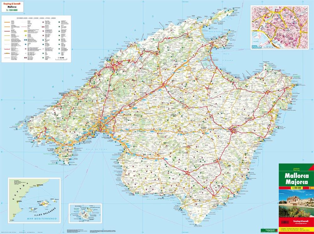Mallorca 1:100.000 mapa de carreteras. Freytag & Berndt ...