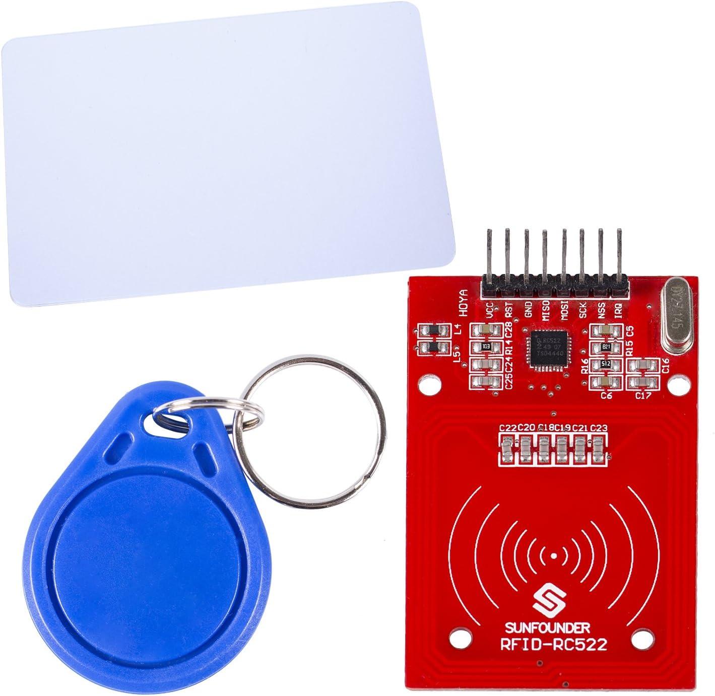 Amazon Com Sunfounder Mifare Rc522 Card Read Antenna Rf Module Rfid Reader Ic Card Proximity Module For Arduino Computers Accessories