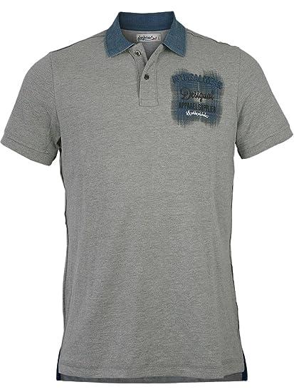 Desigual Hombre Designer Polo Camiseta - iticy de Gris M: Amazon ...