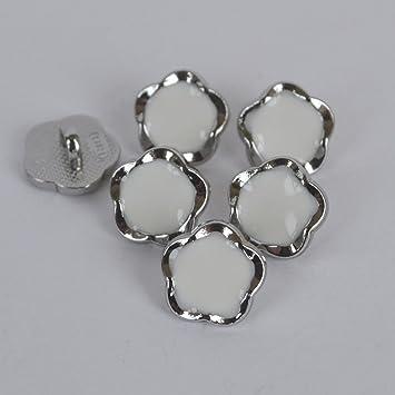 10pcs Enamel Metal Shank Buttons Shirt Clothing Sewing Decor Replace 8mm
