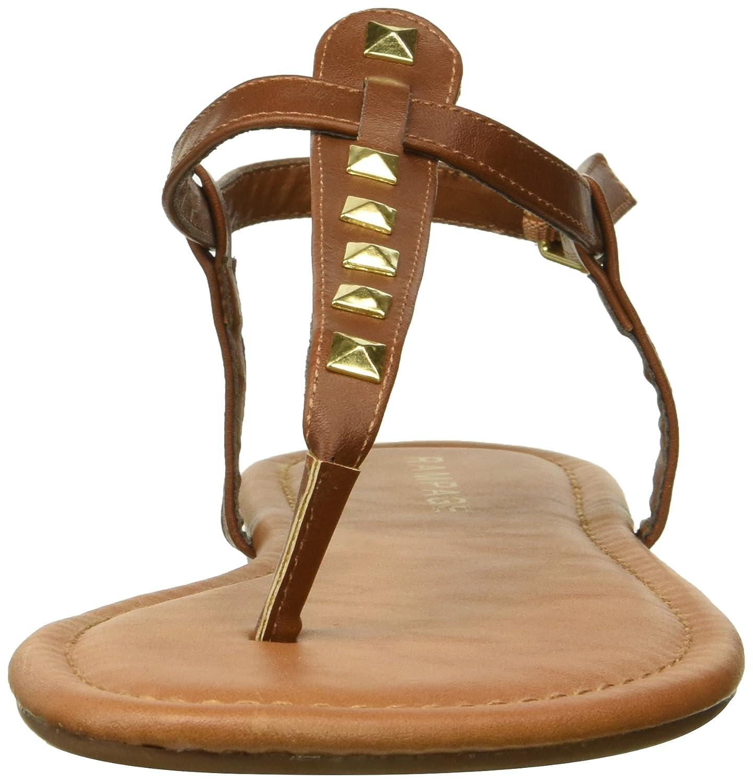 Rampage Frauen Pashmina Split Toe Flache Leger Flache Toe Sandalen Cognac/Gold Studs e8672c