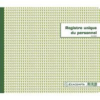 Exacompta 6620E Piqure Registre Unique du Personnel 27/32 40 Pages