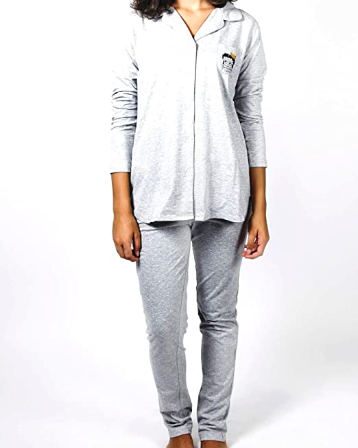 GISELA Pijama Botones Betty Boop para Mujer Marca (XL)