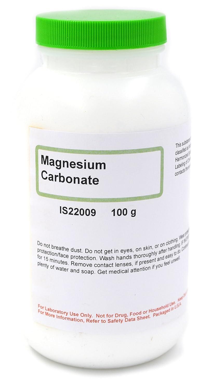 Carbonato de magnesio ligero, 100 g, colección química ...