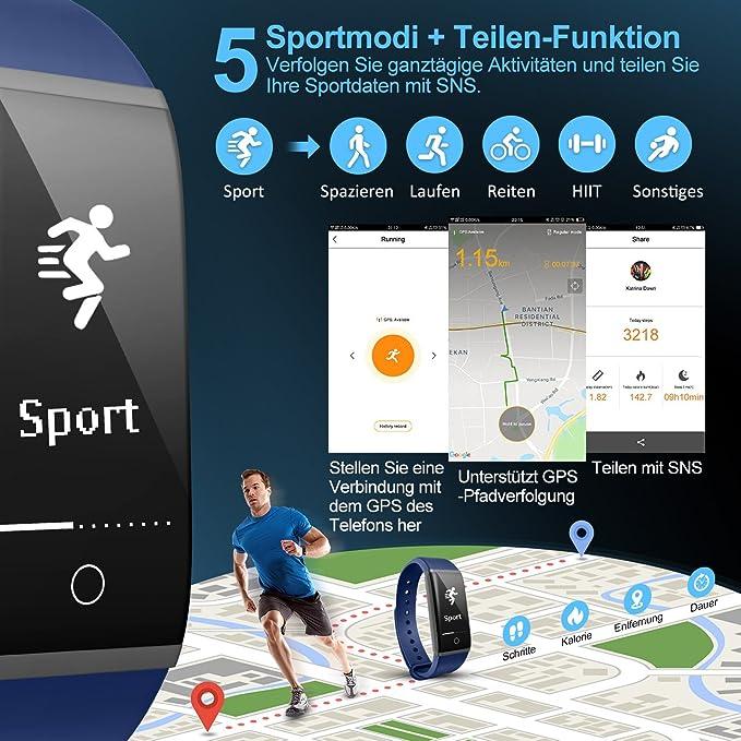 Fitness Tracker, Mpow IP67 Wasserdichte H2 Fitness Tracker mit ...