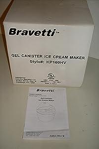 Bravetti Gel Canister Ice Cream Maker Style# KP160HV