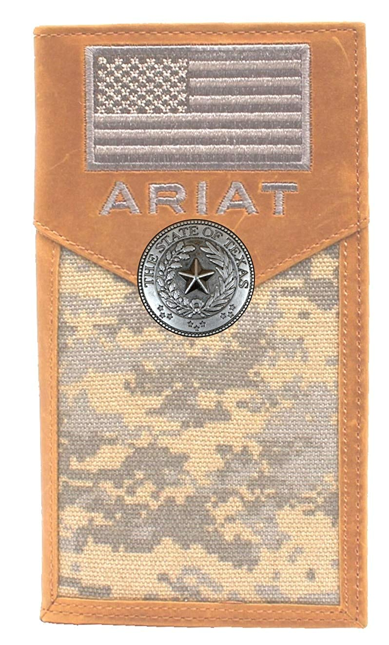 Custom Texas Seal and American Flag A Green Digital Camo long wallet