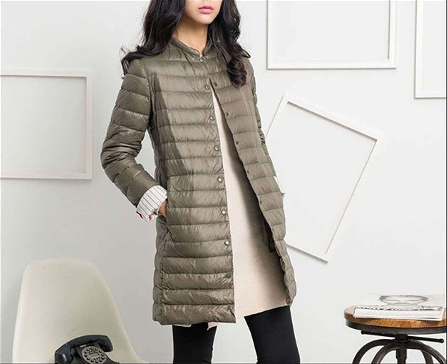 Amazon.com: Feilongzaitianba Winter Coat Women Jacket Long Coats Outerwear Parka Army Green XXL: Clothing